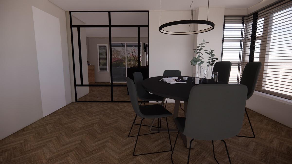 Interieurplan en keukenontwerp voor vrijstaande woning